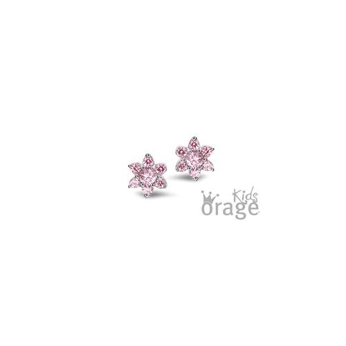Oorstekers - Roze bloem
