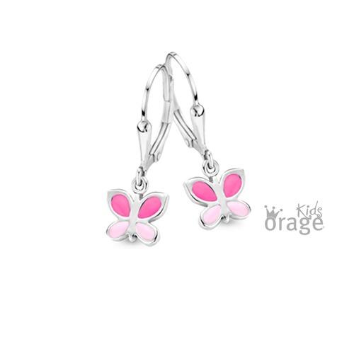Oorhanger - Roze vlinder