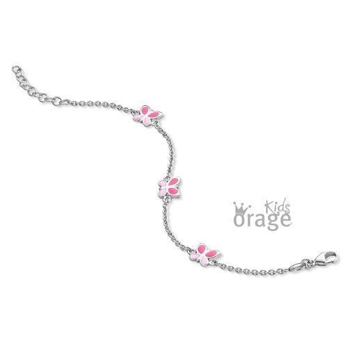 Armband - roze vlinder