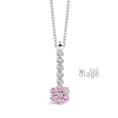 Hanger - roze bloem