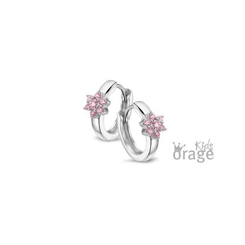 Oorring - Roze bloem