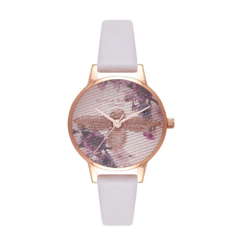 Embroidered Dial 3D Bee Blush and Rose Gold Watch